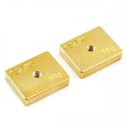 Centro Precision Brass 10g Balancing Weights (pr)