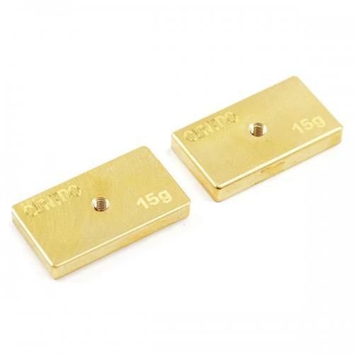 Centro Precision Brass 15g Balancing Weights (pr)