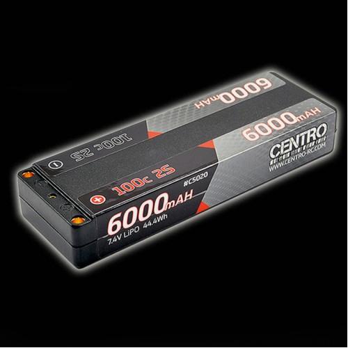 Centro 2S 6000mah 7.4v 100c Hardcase LCG Stick Lipo Battery