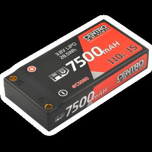 Centro HV 1S 7500mah 3.8v 110c Hardcase Lipo Battery