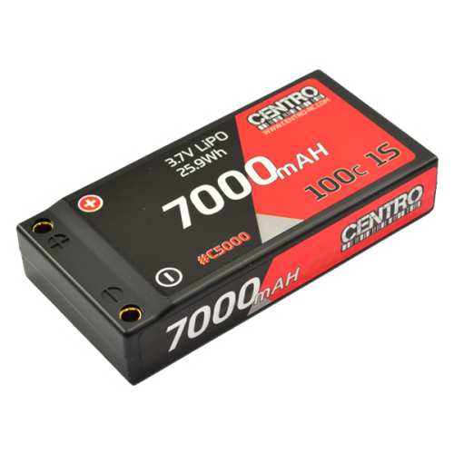 Centro 1s 7000mah 3.7v 100c Hardcase Lipo Battery