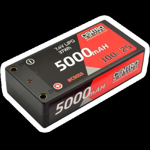 Centro 2S 5000mah 7.4v 100c Hardcase Shorty Lipo Battery