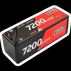 Centro 4S 7200mah 14.8v 100c Hardcase Lipo Battery