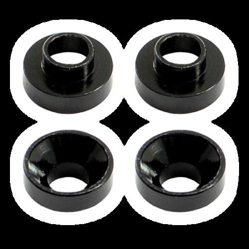 Centro Aluminium Servo Mount Collars (4) Black