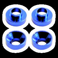 Centro Aluminium Servo Mount Collars (4) Blue